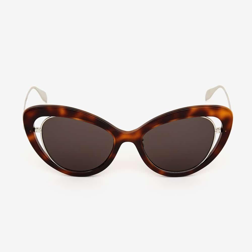 Alexander Mcqueen Sunglasses Toronto Open Wire Cat Eye Havana F