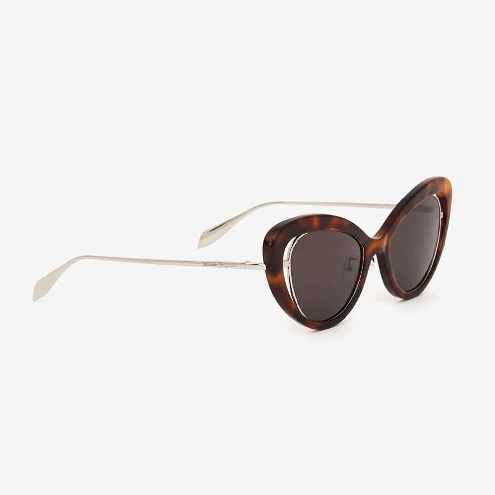 Alexander Mcqueen Sunglasses Toronto Open Wire Cat Eye Havana P