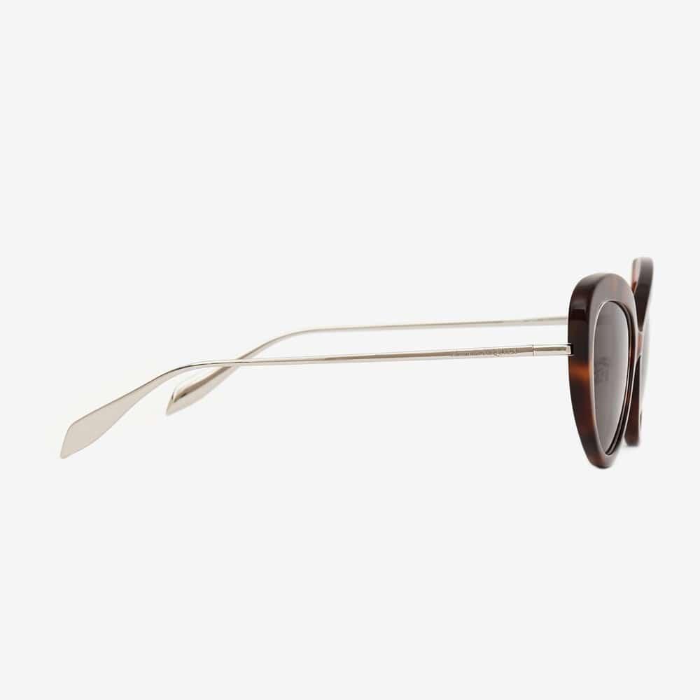 Alexander Mcqueen Sunglasses Toronto Open Wire Cat Eye Havana S