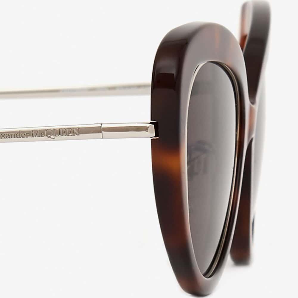 Alexander Mcqueen Sunglasses Toronto Open Wire Cat Eye Havana S2