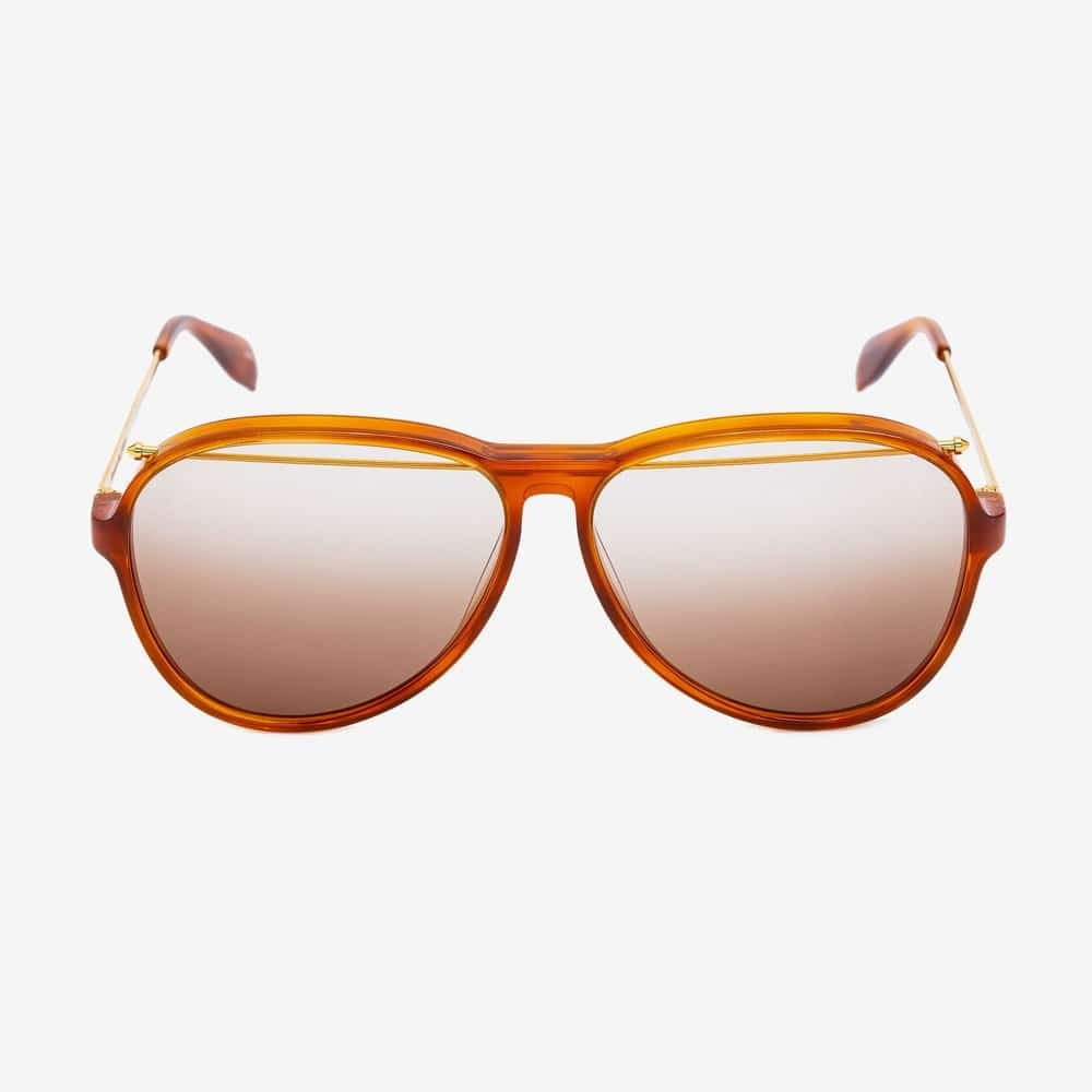 Alexander Mcqueen Sunglasses Toronto Piercing Pilot Acetate Havana F