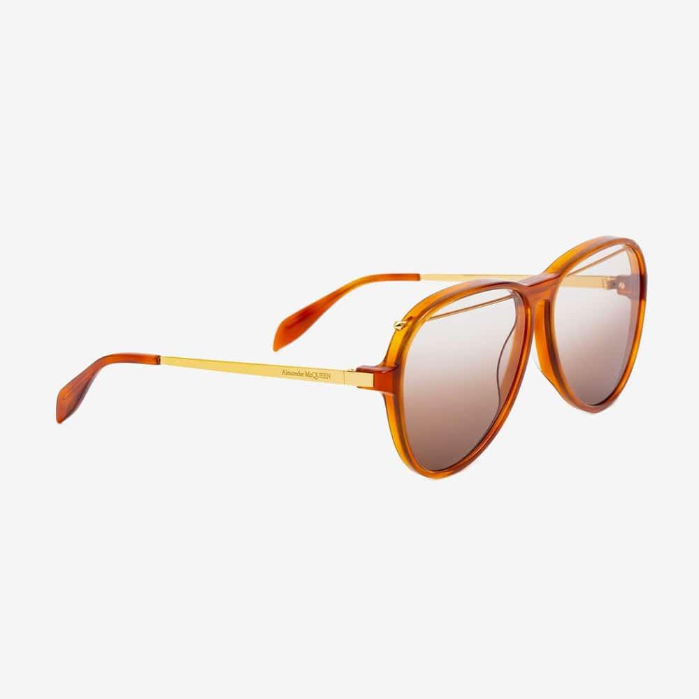 Alexander Mcqueen Sunglasses Toronto Piercing Pilot Acetate Havana P