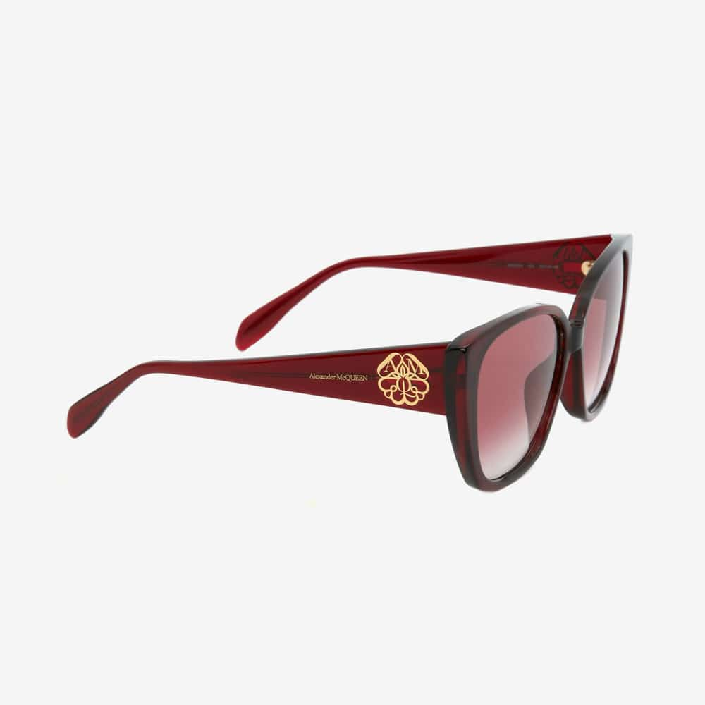Alexander Mcqueen Sunglasses Toronto Seal Logo Burgundy P