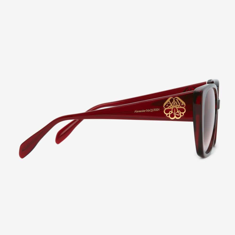 Alexander Mcqueen Sunglasses Toronto Seal Logo Burgundy S