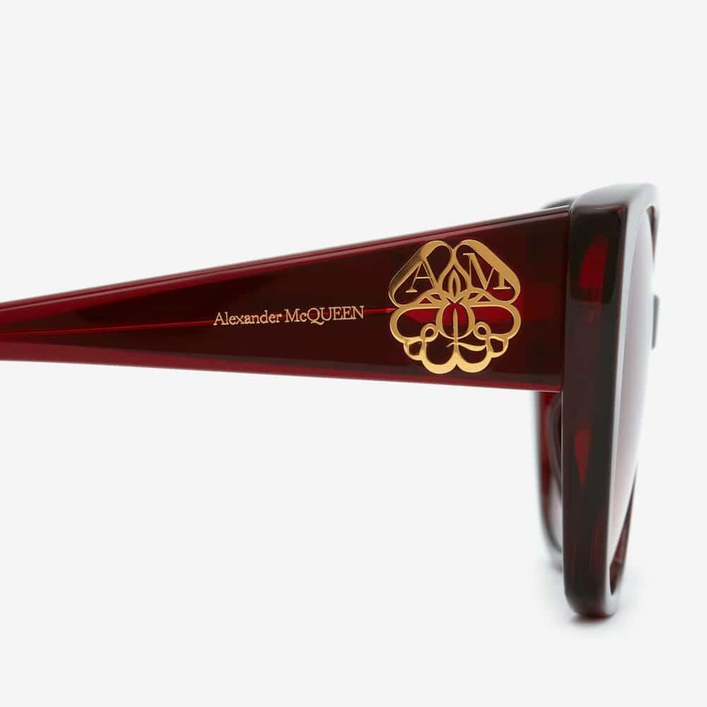 Alexander Mcqueen Sunglasses Toronto Seal Logo Burgundy S2