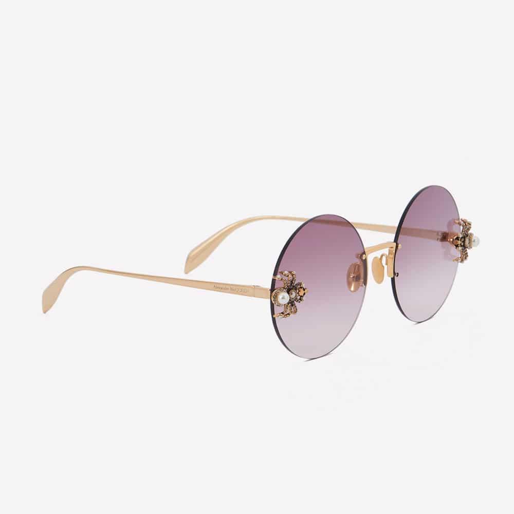 Alexander Mcqueen Sunglasses Toronto Spider Jewelled Round P