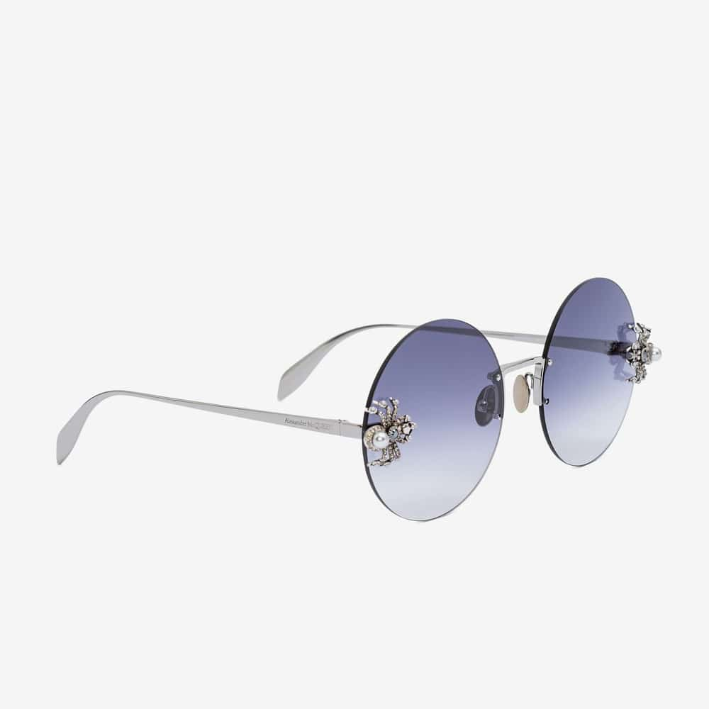 Alexander Mcqueen Sunglasses Toronto Spider Jewelled Round P2