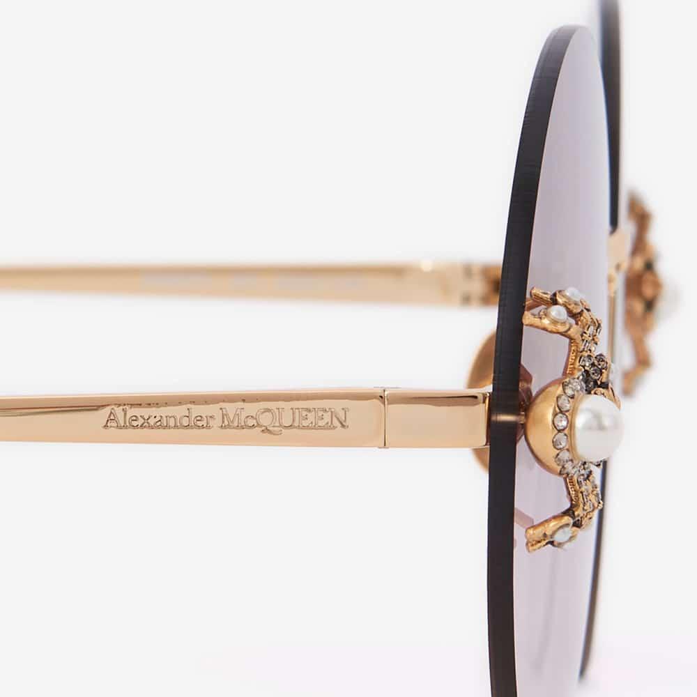 Alexander Mcqueen Sunglasses Toronto Spider Jewelled Round S2