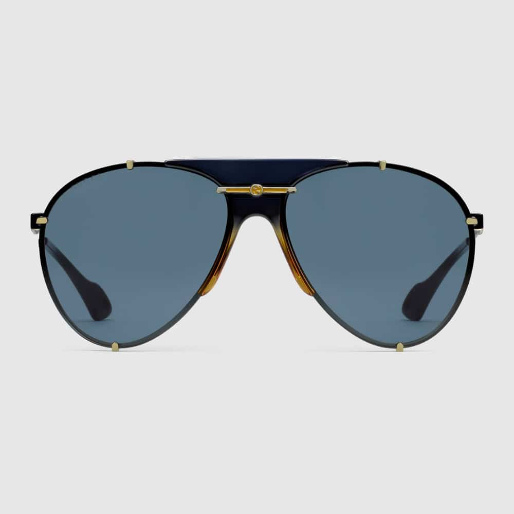 Gucci Glasses Toronto Aviators Black F