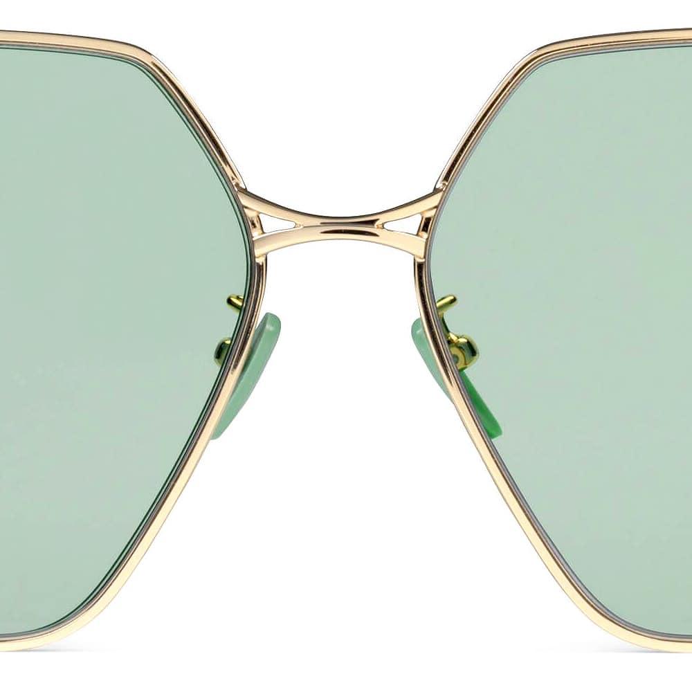 Gucci Sunglasses Brampton Oval Jade Frame F