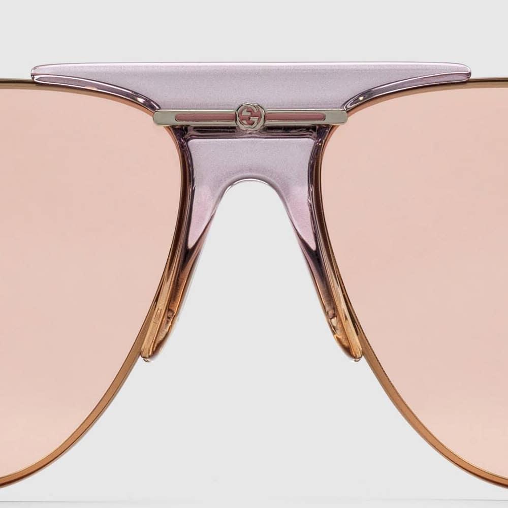 Gucci Glasses Toronto Aviators Pink C