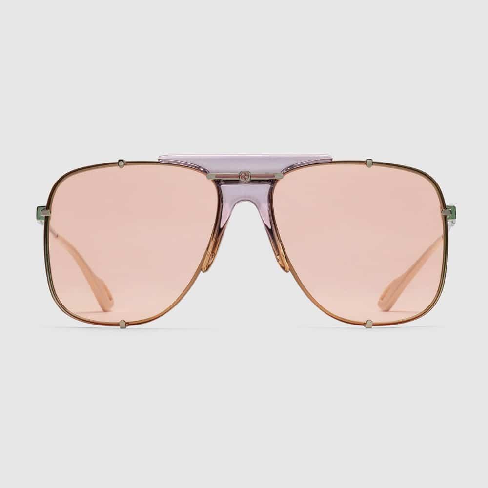 Gucci Glasses Toronto Aviators Pink F