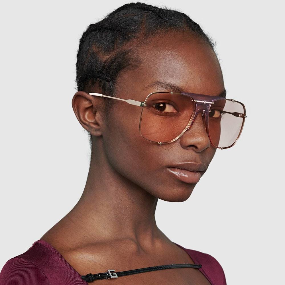 Gucci Glasses Toronto Aviators Pink M