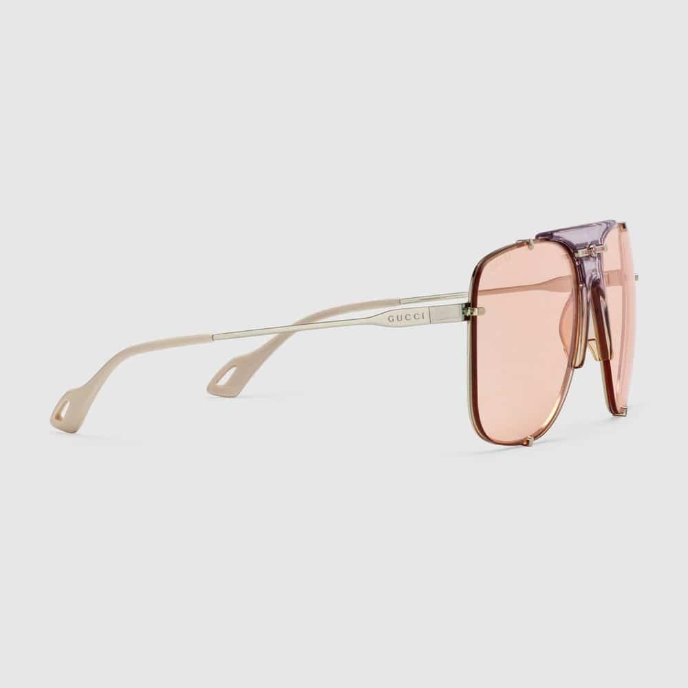 Gucci Glasses Toronto Aviators Pink S