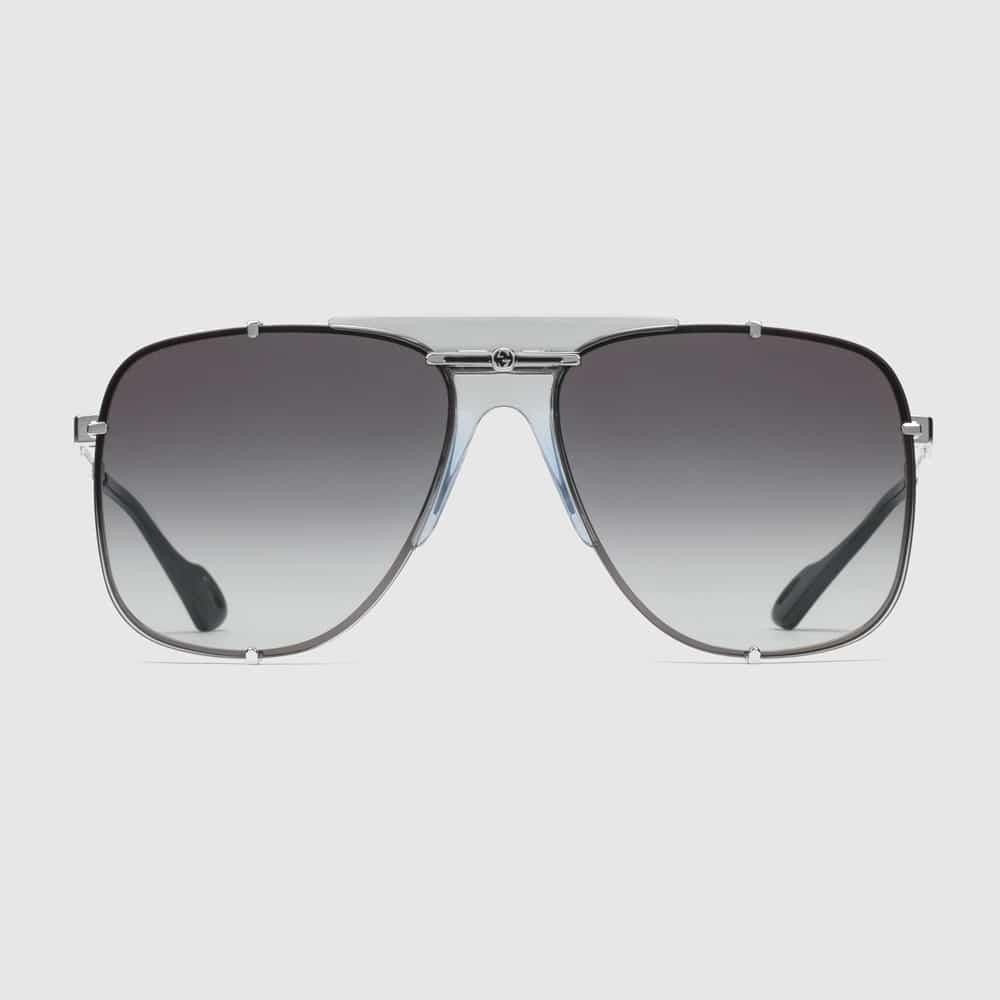 Gucci Glasses Toronto Aviators Silver F