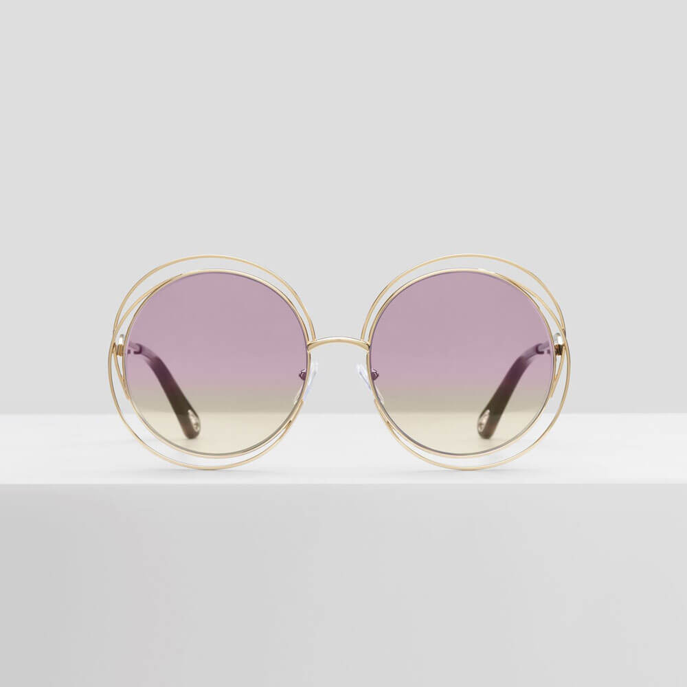 chloe sunglasses carlina gold mauve yellow