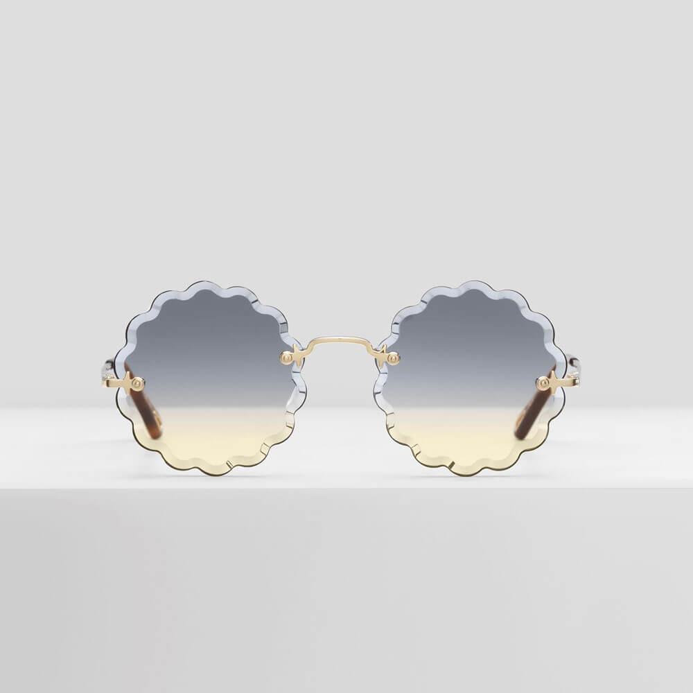 chloe sunglasses rosie petite gold metal
