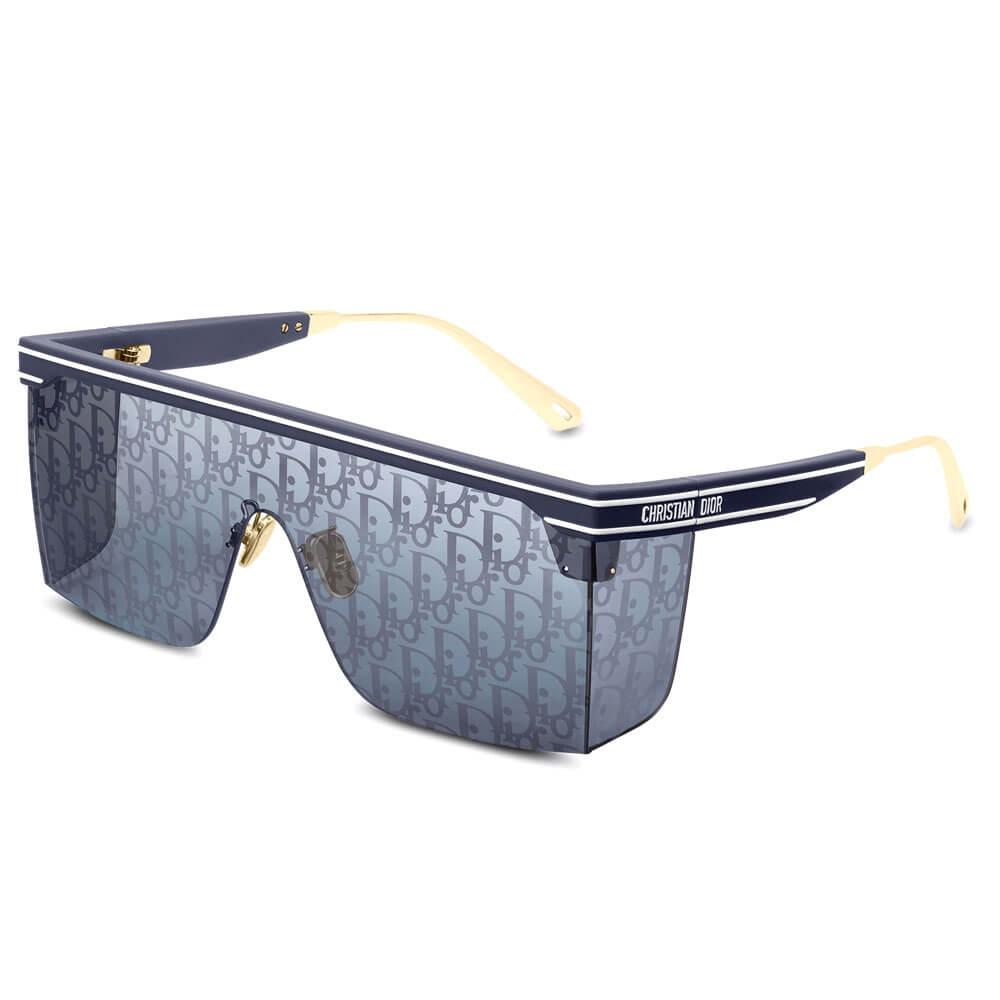 dior sunglasses oblique mask black gold