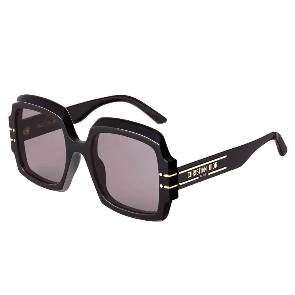 dior sunglasses signature collection black square