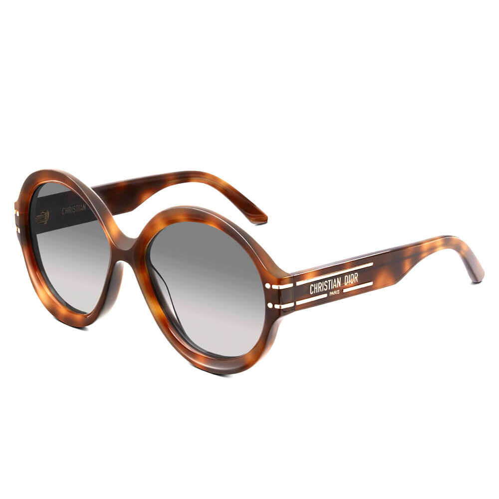 dior sunglasses signature collection tortoise shell brown round