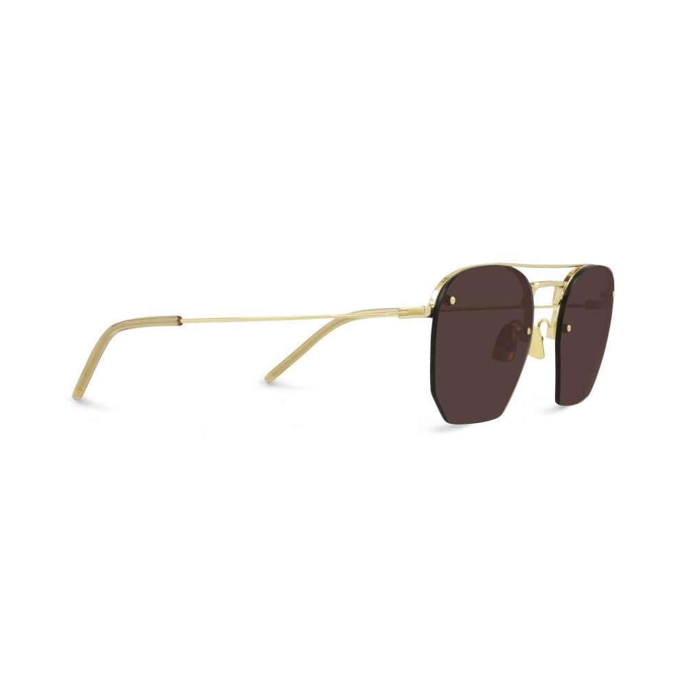 saint laurent sunglasses round gold